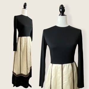 Vintage Daymor Couture Embroidered Braided Dress